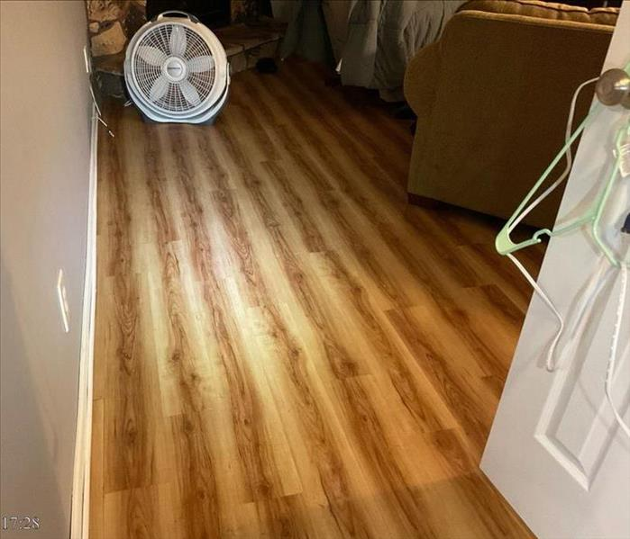 Wet laminate flooring in rec room