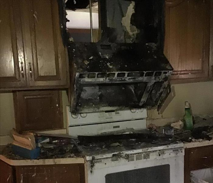 Kitchen Fire Damage Caused by Electrical Wiring
