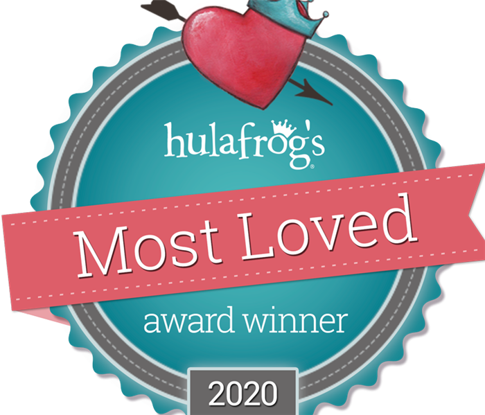 An award symbol that states 2020 most loved